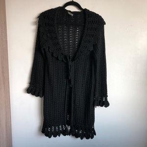 Marks & Spencer Boho Long Open Cardigan Sweater L